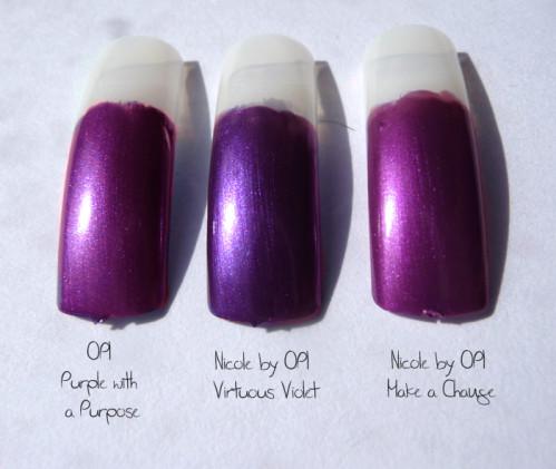 comparaison violets