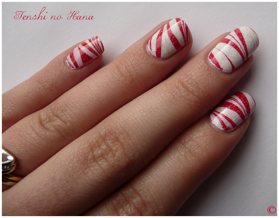 nail art noel ongle court