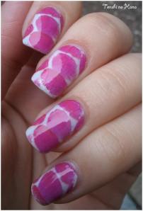 nail decals pétales roses 2