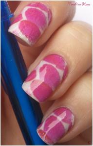 nail decals pétales roses 6