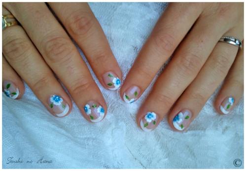 déco aline fleurs bleues 1