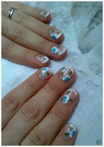 déco aline fleurs bleues 2