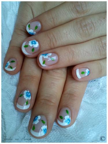 déco aline fleurs bleues 4