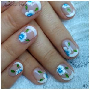 déco aline fleurs bleues 5