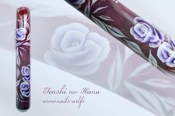 fleurs violettes one stroke