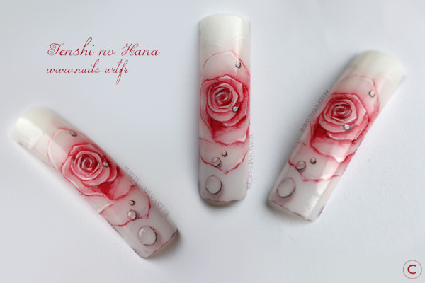 rose aquarelle avril 2013