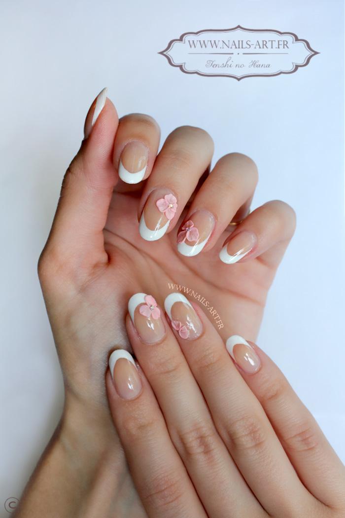 La 3d simple et chic nature nails nails art - Nail art discret ...