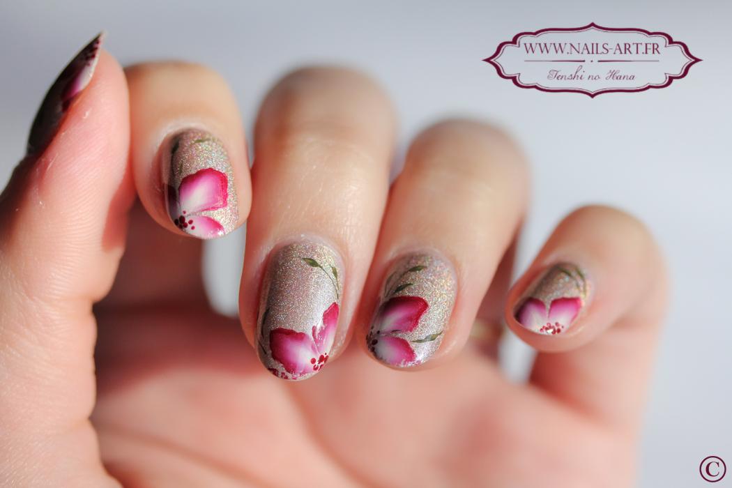 nail art fleuri nature nails nails art. Black Bedroom Furniture Sets. Home Design Ideas