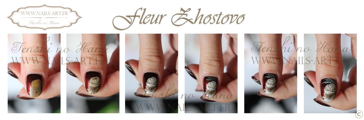 Pas Pas Des Fleurs En Zhostovo Nature Nails Nails Art