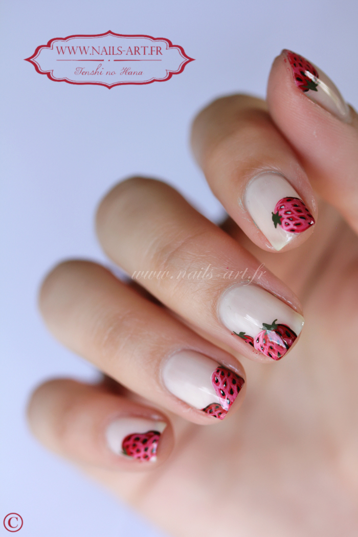 Fraises gourmandes   Nature Nails Nails Art