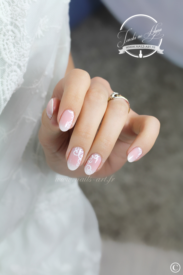 Nail Art Sp 233 Cial Mariage La Mari 233 E Traditionnelle Nature Nails Nails Art