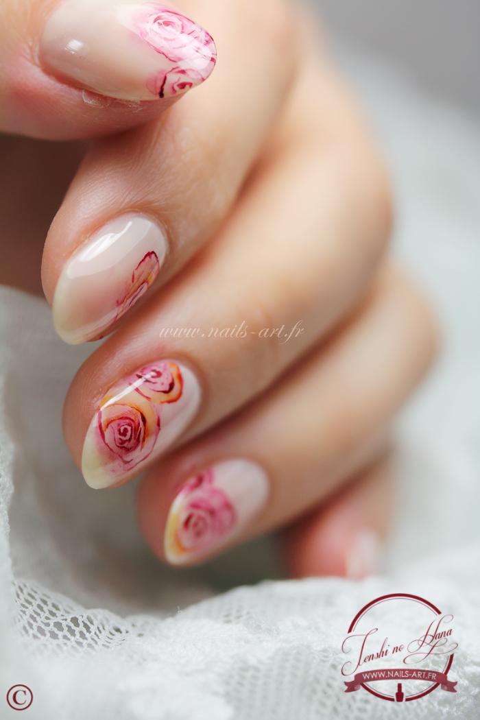 Nail art spécial mariage, la mariée colorée | Nature Nails Nails ...