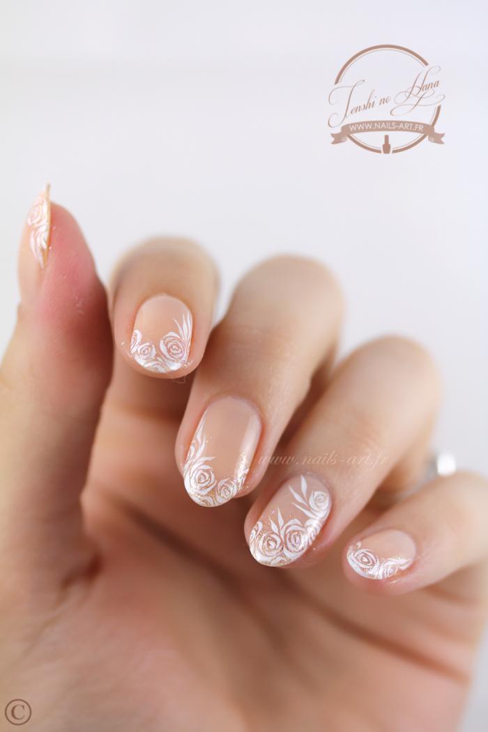 Nail Art Sp Cial Mariage La Mari E D Licate Nature Nails Nails Art